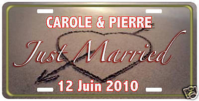 PLAQUE type USA personnalisable MARIAGE JUST MARRIED