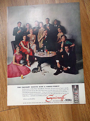 1959 Smirnoff Vodka Ad  The Zachary Scotts Give a Party