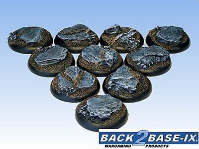 30mm Resin Scenic RS Bases (10) Slate