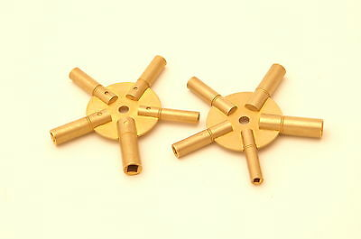 New,ten Clock Keys,two-5 Pronged Clocks Winding Tool