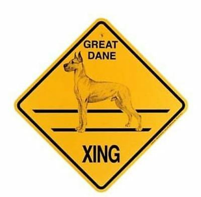 Great Dane   Xing Sign Dog Crossing NEW cropped ears