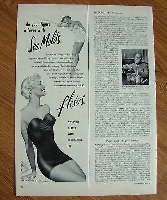 1951 Flexees Sea Molds Swim Suits Ad