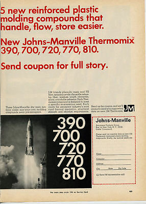 1960s JOHNS-MANVILLE Thermomix Asbestos CROCIDOLITE Ad Aerospace Space Shuttle