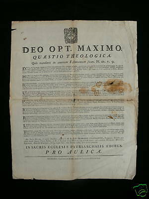 1783 Original Poster - Theological Questions - Bourges