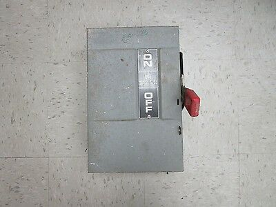 GE General Electric Fusible Safety Switch TH3222 60 AMP 240 VAC 250 VDC Used