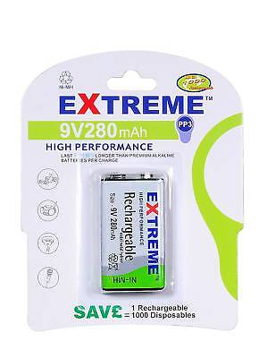 60 x PP3 (LF22) 280 MAH RECHARGEABLE BATTERIES-EXTREME