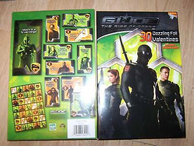 Box of 30 G.I. Joe Foil Valentines Day Cards Stickers