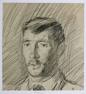 Drawing C1890 Leicester Punch W Urquhart Portrait Gent