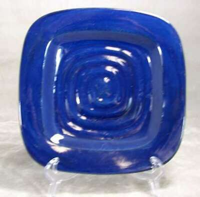 "Meijer Gibson Dinnerware Circularity Shade Blue Square 8 5.8"" Salad Plate"