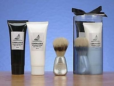 Pendergast Bay, MEN'S SHAVE GIFT SET Trilogy, Gel Lotion Boar Brush NIB