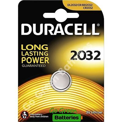 1 x Duracell CR2032 3V Lithium Coin Cell Battery 2032, DL2032, BR2032, SB-T15