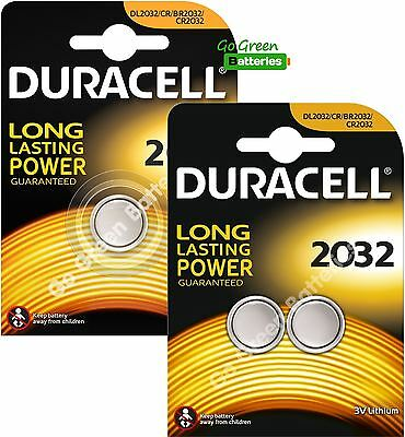 3 x Duracell CR2032 3V Lithium Coin Cell Battery 2032, DL2032, BR2032, SB-T15