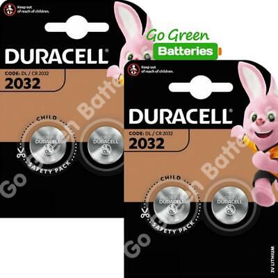 4 x Duracell CR2032 DL2032 3V Lithium Coin Cell Battery 2025 Expiry