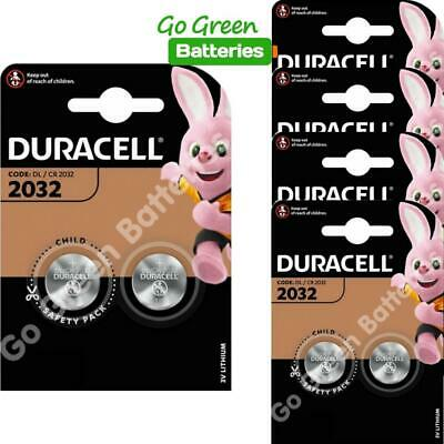10x Duracell CR2032 3V Lithium Coin Cell Battery 2032