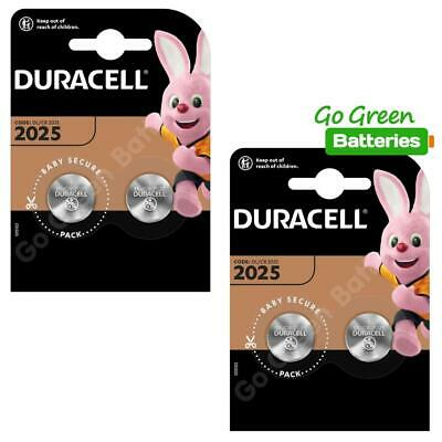 4 x Duracell CR2025 3V Lithium Coin Cell Battery 2025, DL2025, BR2025, SB-T14