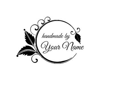 UNMOUNTED PERSONALIZED /'HANDMADE BY/'  RUBBER STAMPS H61