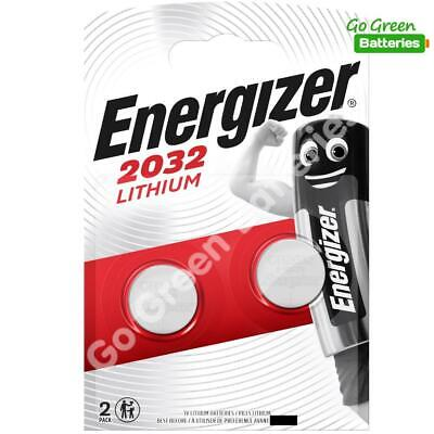 2 x Energizer CR2032 3V Lithium Coin Cell Battery 2032