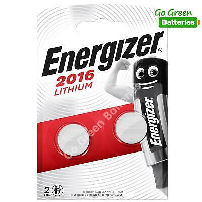 2 x Energizer CR2016 3V Lithium Coin Cell Battery 2016