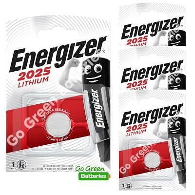 4 x Energizer CR2025 3V Lithium Coin Cell Battery 2025
