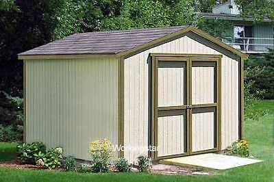 12'x12' Gable Garden Storage Shed Plans, See Samples