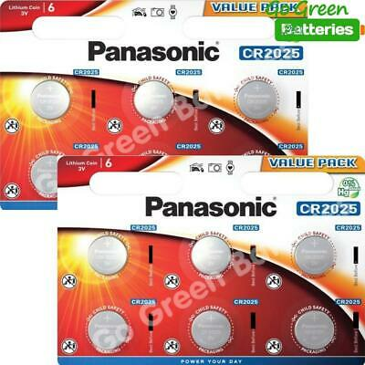 12 x Panasonic CR2025 3V Lithium Coin Cell Battery 2025