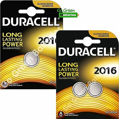 3 x Duracell CR2016 3V Lithium Coin Cell Battery 2016, DL2016, BR2016, SB-T11