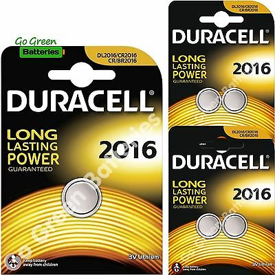 5 x Duracell CR2016 3V Lithium Coin Cell Battery 2016, DL2016, BR2016, SB-T11