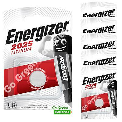6 x Energizer CR2025 3V Lithium Coin Cell Battery 2025