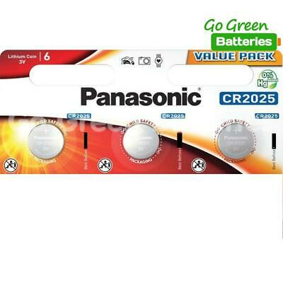 3 x Panasonic CR2025 3V Lithium Coin Cell Battery 2025