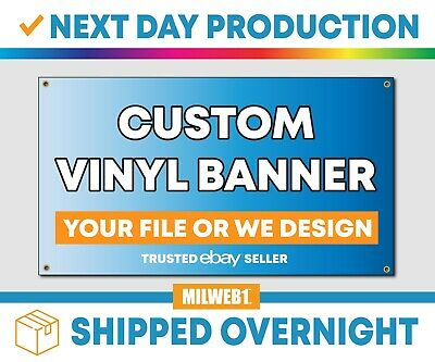 "2'x 6' Custom Vinyl Banner, 13oz FULL COLOR (24""x72"")"