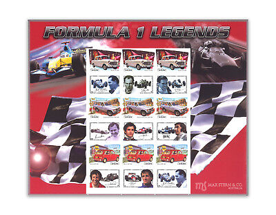 Austria-Australia Formula 1 Personalized Stamp Sheet