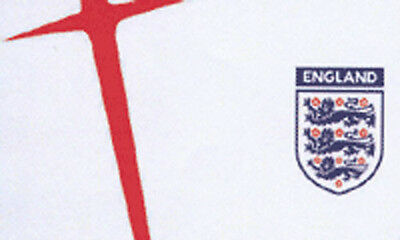 OFFICIAL WHITE ENGLAND FA FOOTBALL FLAG 5' x 3' St George Cross 3 Lions