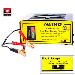 6/12V Battery Charger NEW + FREE SHIPPING