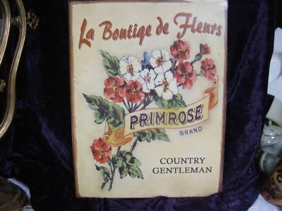 Floral Advertising Tin Sign