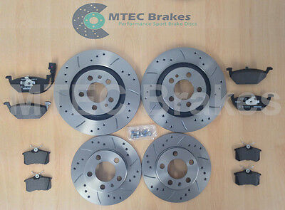 VW Golf mk4 GT TDi 115 MTEC Drilled Grooved Brake Discs Front Rear & Pads