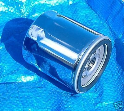 Six Chrome Oil Filters Filter Harley Twin Cam Models 1999 & Up 6-Pack