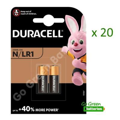 20 x Duracell MN9100 LR1 1.5V Alkaline Batteries 910A E90 N KN AM5 Security