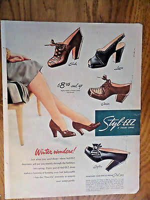 1946 Styl-eeZ Shoes Ad A Selby Shoe Winter Wonders