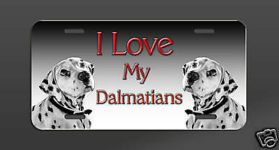 Dalmation Dogs  Aluminum License Plate
