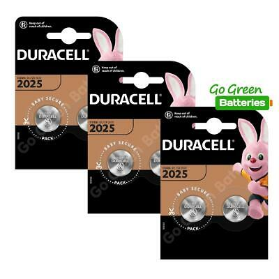 6 x Duracell CR2025 3V Lithium Coin Cell Battery 2025, DL2025, BR2025, SB-T14