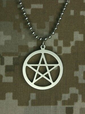 GI JEWELRY U.S Military WICCA Necklace PENTACLE PENDANT