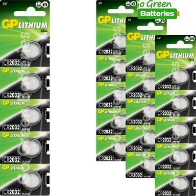 20 x GP CR2032 3V Lithium Coin Cell Battery 2032 DL2032
