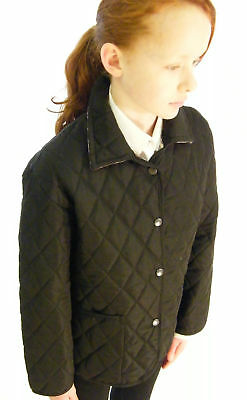 Campbell Cooper Brand New Girls Fitted Black Quilted Riding Jacket Coat 6-7 yrs