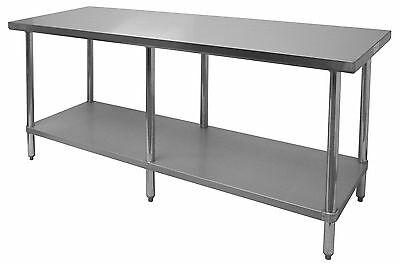 GSW GAUGE X X All Stainless Steel Flat Top Work Table - 6ft stainless steel table