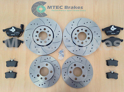 Golf mk4 GT TDi 150 Drilled Brake Discs Front Rear Pads