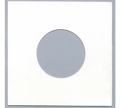 """200 7"""" PAPER RECORD SLEEVES - WHITE - HIGHEST QUALITY - 80 gsm"""