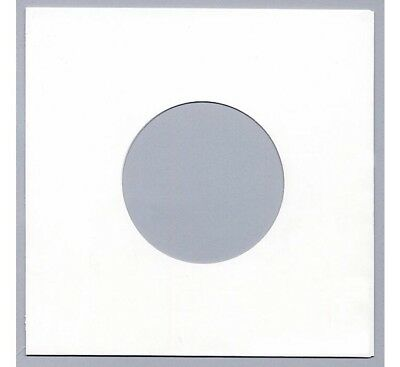"100 7"" / 45 rpm PAPER RECORD SLEEVES COVERS - WHITE - NOW 10% THICKER - 90 GSM"
