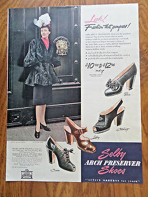 1946 Selby Arch Preserver Shoes Ad Fashion that Pampers