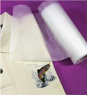 """FUSIBLE PolyMesh Embroidery Stabilizer Cut Away 8""""x10YD"""
