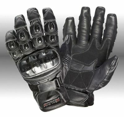 Rayven Talon Summer Leather Motorbike Motorcycle Gloves